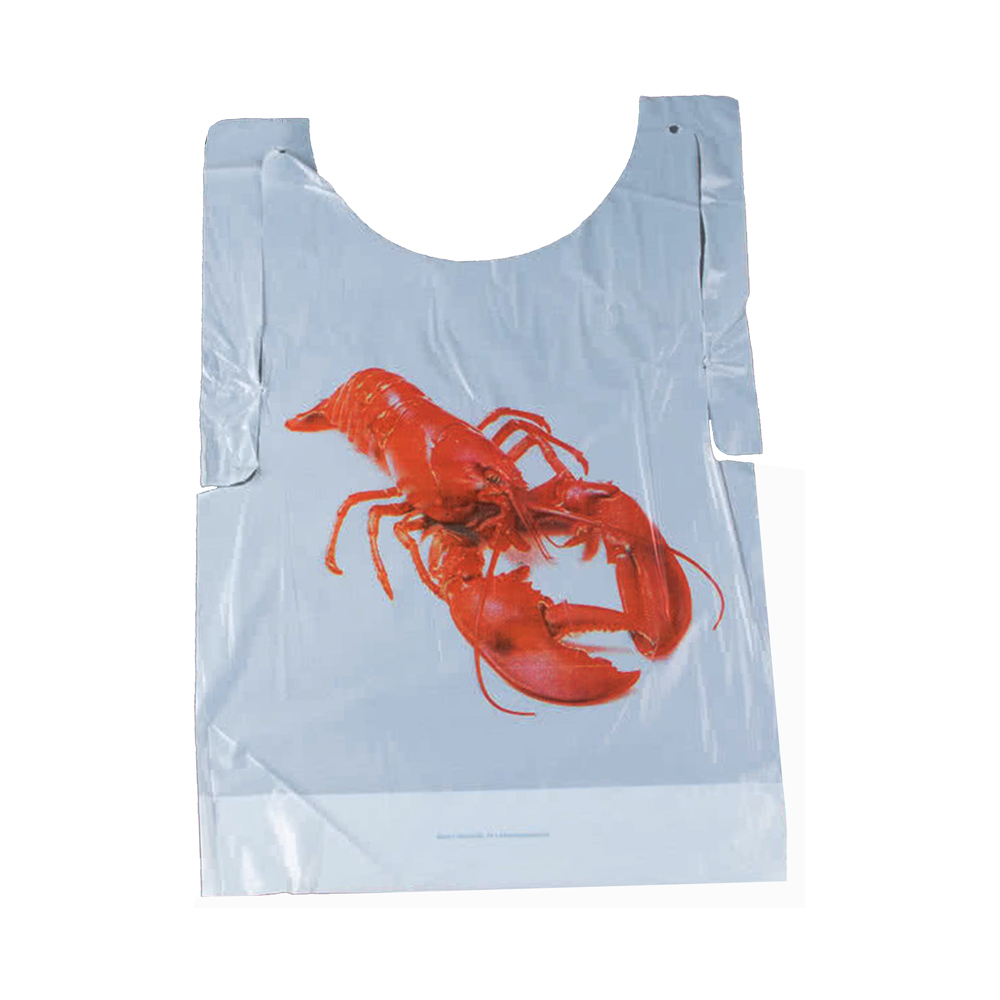 "Convenience Packs - Printed 15.5""x20"" Poly Lobster Bib POLYLOBSTER"