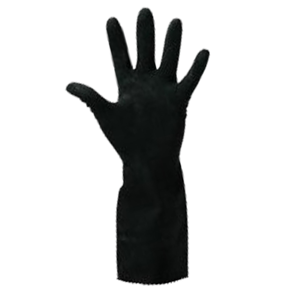 Ball Trading Black Extra Large Elbow Length Rubber Glove 416