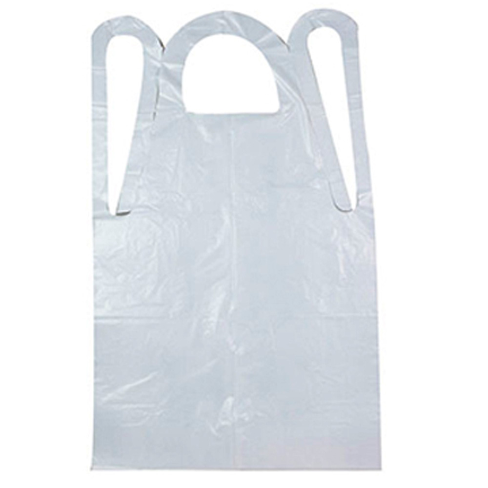 "Royal Paper White 28""x46"" Heavyweight Disposable  Poly Apron RPA20HW"