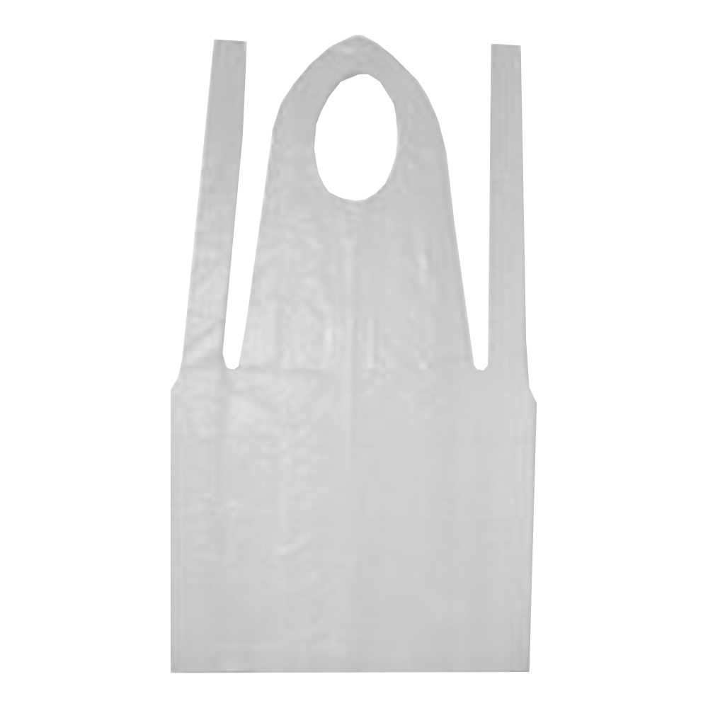 "Tradex Intl White 24""x42"" Poly Embossed Apron     P2442"