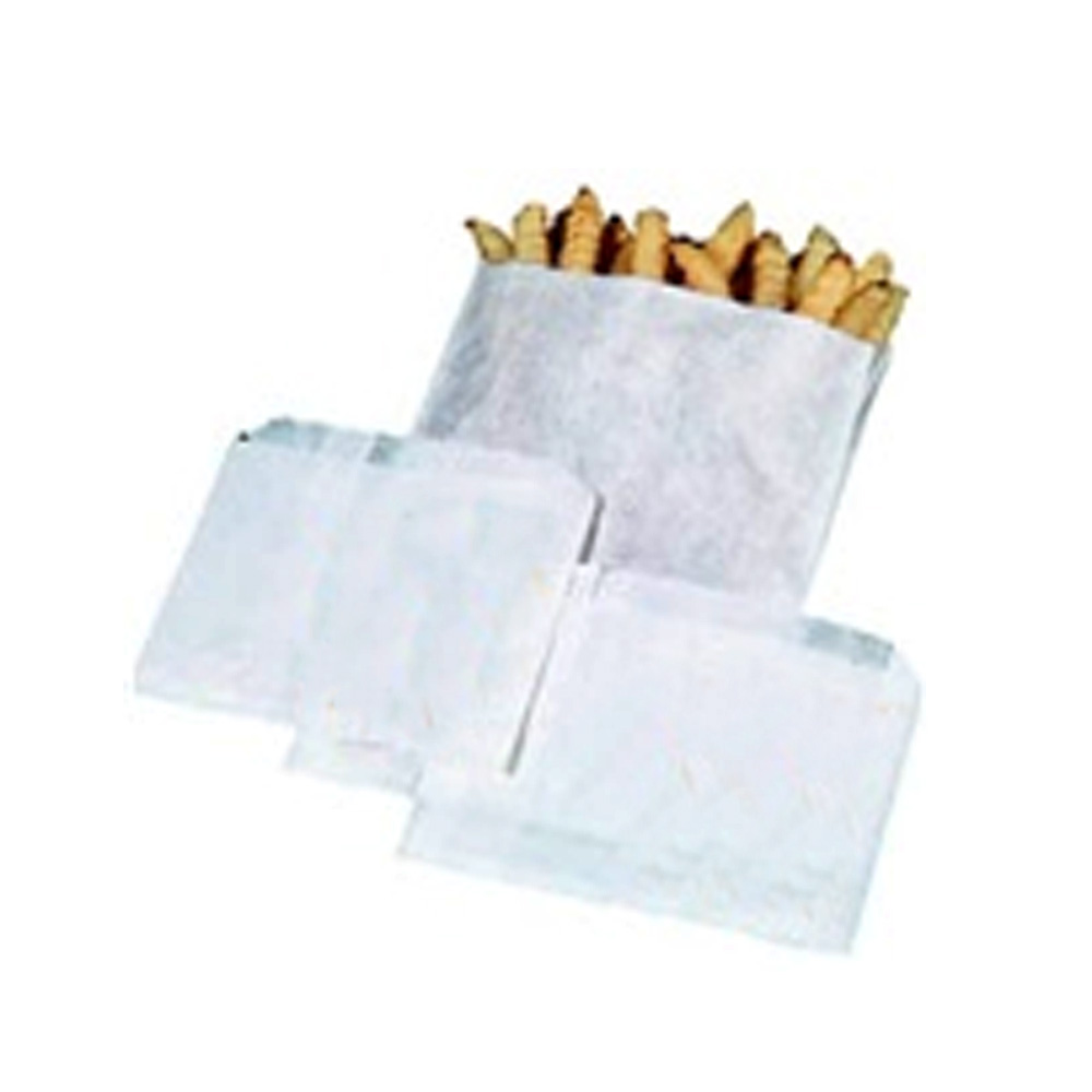 "Plain 4.5""x4.5"" Grease Resistant French Fry Bag 320491"