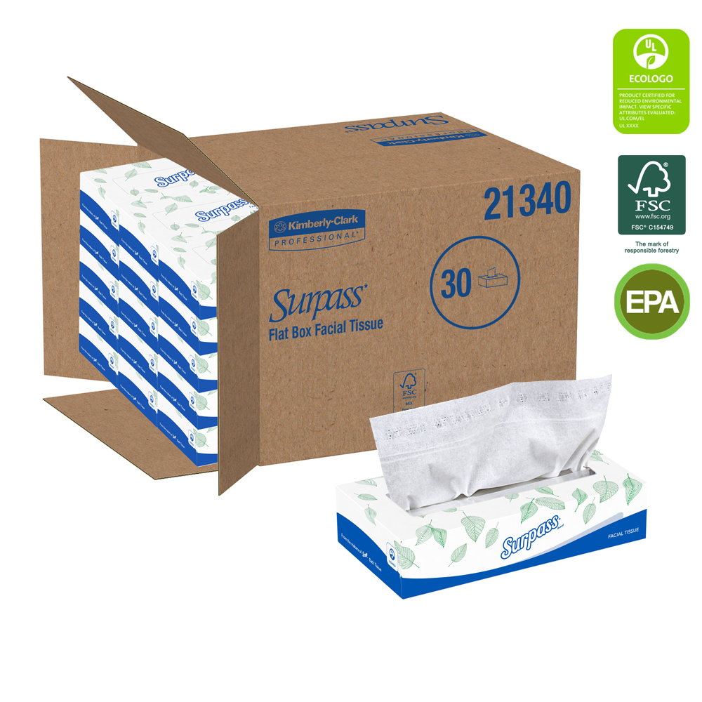 Kimberly Clark 2ply Surpass Facial Tissue 21340