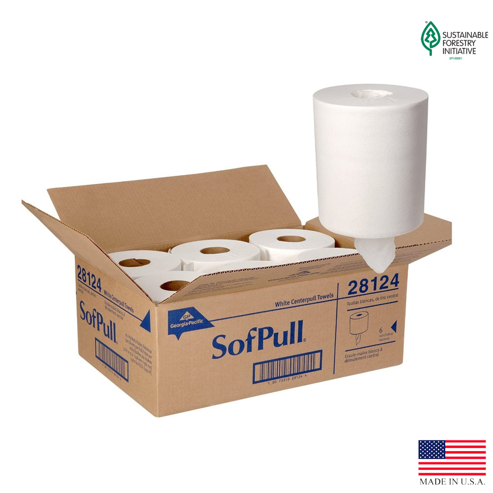 Georgia Pacific White 1ply 320 Sheet Sofpull      Premium Regular Capacity Center Pull Paper To