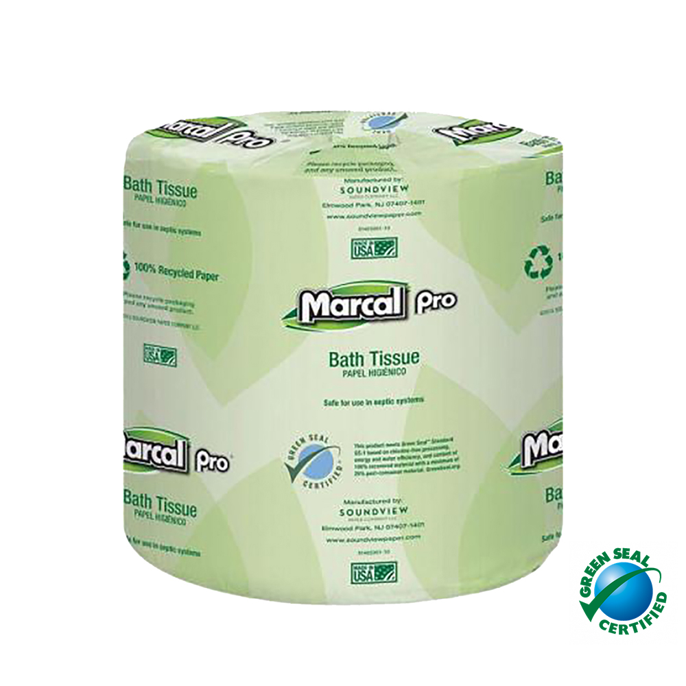 Soundview Paper White 2ply 400 Sheet Marcal Bathroom Tissue 04002-01