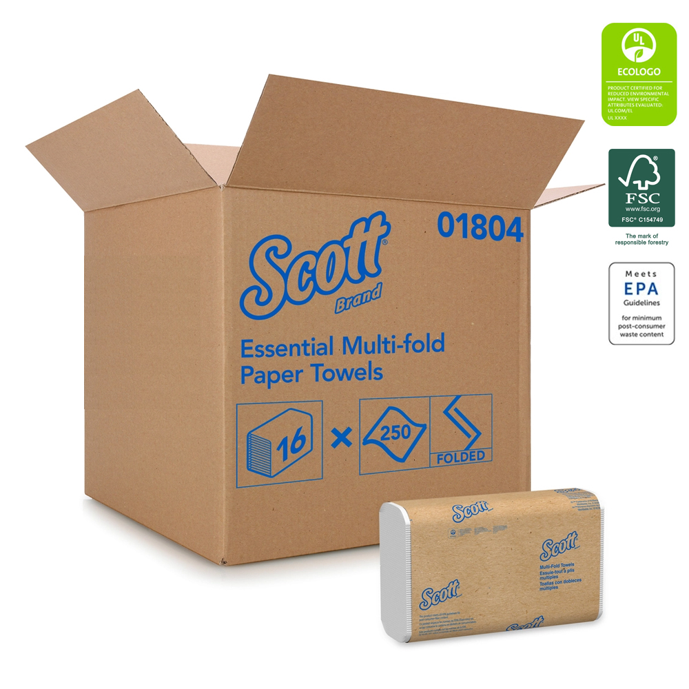 Kimberly Clark White Scott Multi-Fold Towel 01804