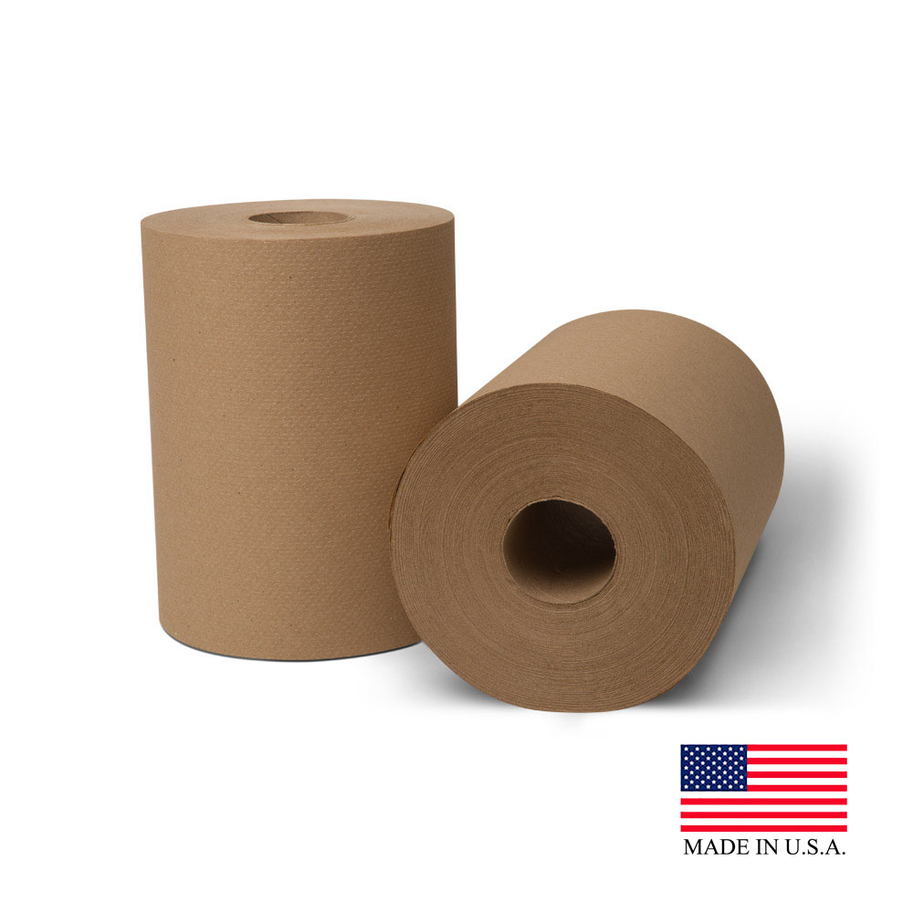 "Essity Professional Natural 8""x425' Ecosoft       Controlled Roll Towel 20100"