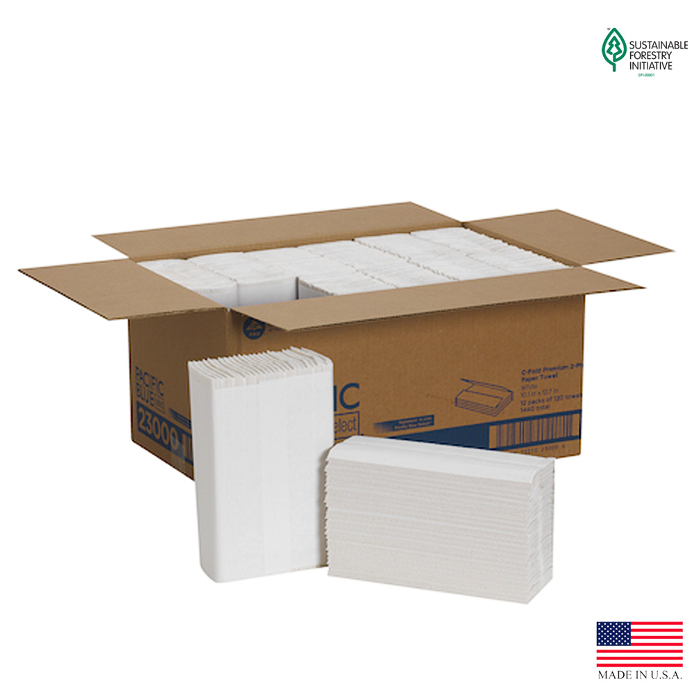 Georgia Pacific White 2ply Signature Premium C-Fold Paper Towel 23000