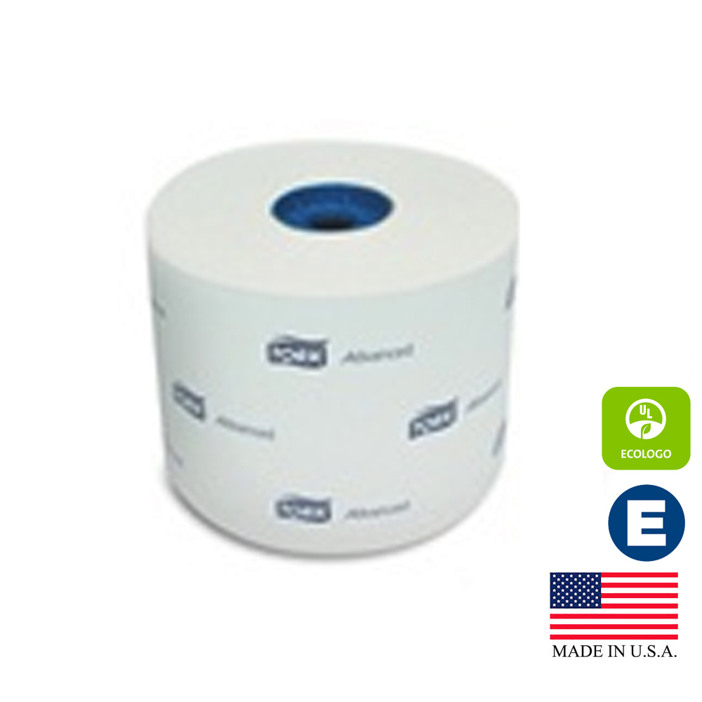 Essity Professional - Tork White 1 ply 1000 Sheet Advanced Bathroom Tissue Roll 110291A