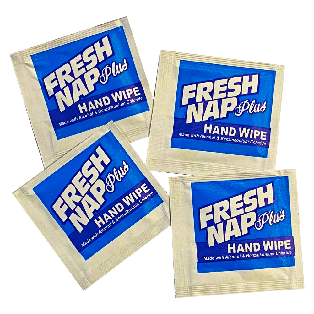 "Kari-Out Co. - Fresh Nap Plus 4""x7"" Antisceptic    Hand Wipe Towelettes 6700301"