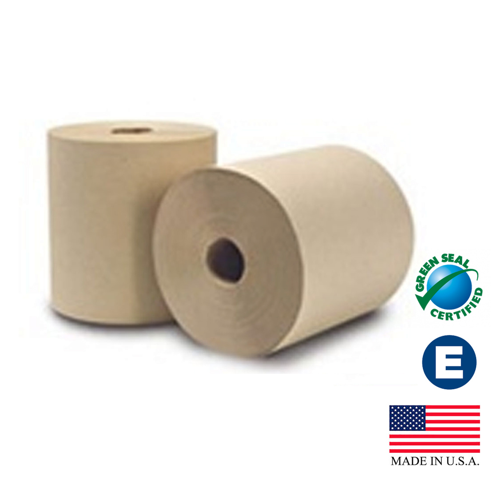 "Essity Professional Natural 8""x800' EcoSoft Green Seal Unbleached Roll Towel 31300"