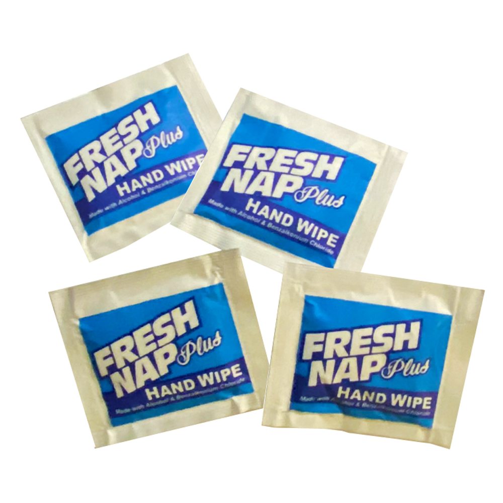"Kari-Out Co. - Fresh Nap Plus 5""x8"" Alcohol and   Benzalkonium Chloride Hand Wipes 6700401"