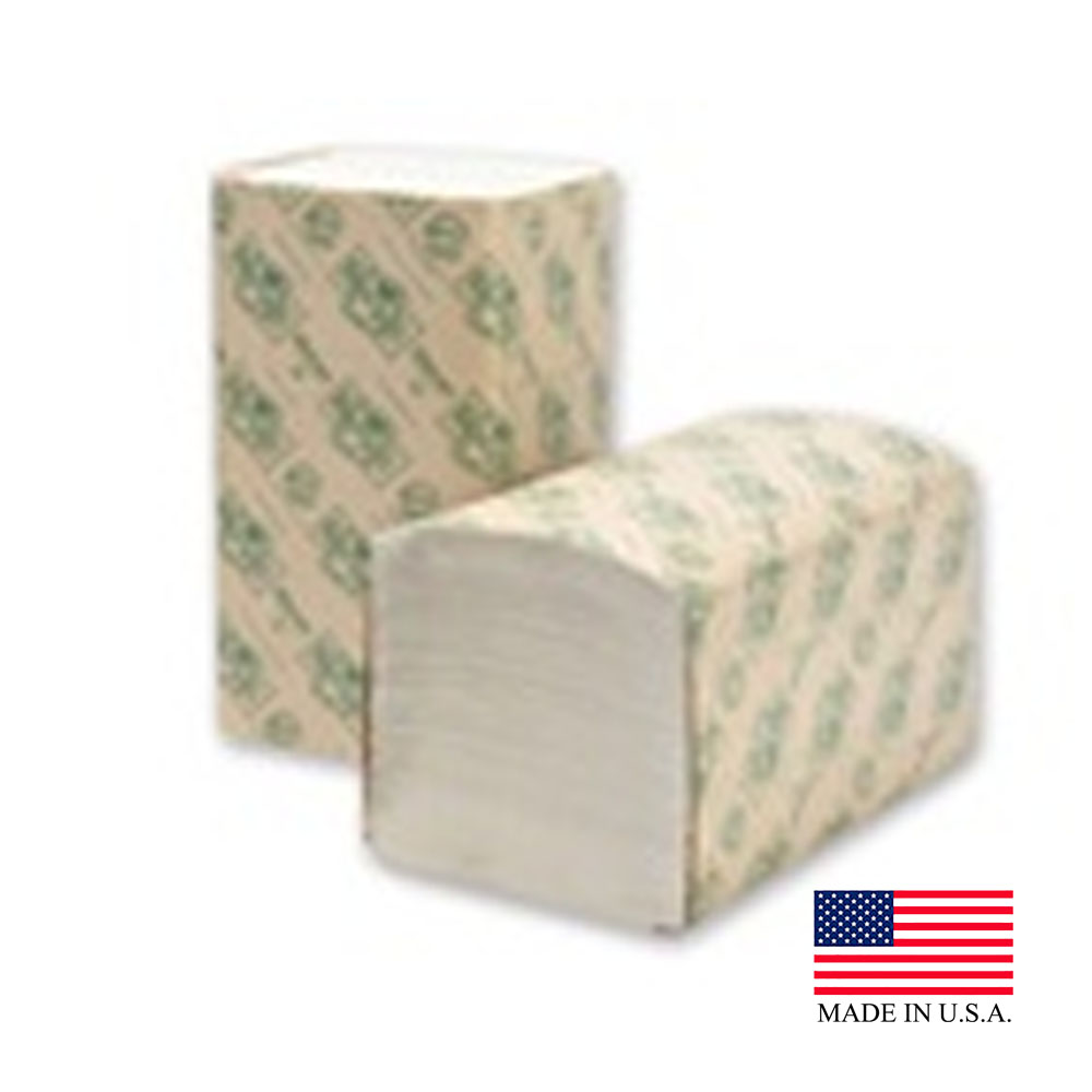 Wausau White EcoSoft Green Seal Semi-Bleached Single Fold Bathroom Tissue 47300