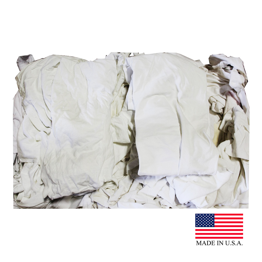 Ball Trading White 50lb Box T-Shirt Rags T-Shirt Rag