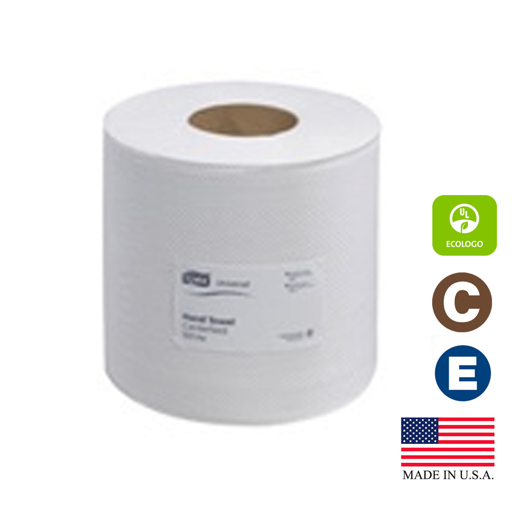 "Essity Professional White 8""x500' Tork Advanced   Center Feed Hand Towel 120932"