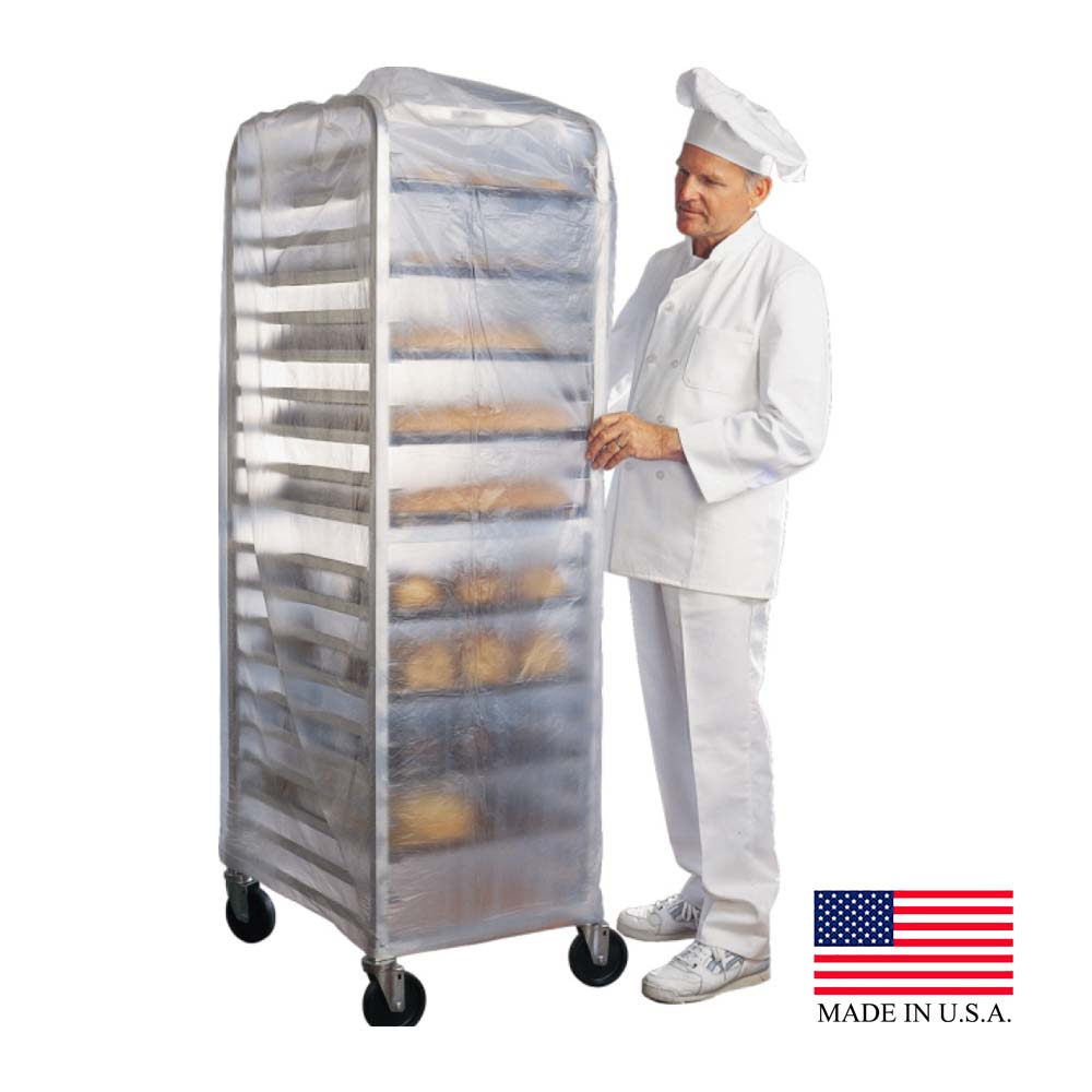 "Clear 52""x80"" Plastic Food Cart Cover FCC5280-52X80"