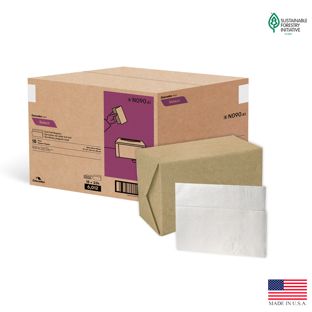 "Cascades Tissue Grp. - North River White 13""x12"" 1 ply 334 Sheet Serv Rite Ii Dispenser Paper N"