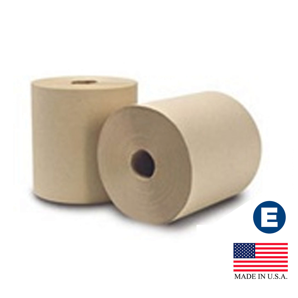 "Essity Professional Natural 8""x630' Ecosoft       Unbleached Roll Towel 31500"