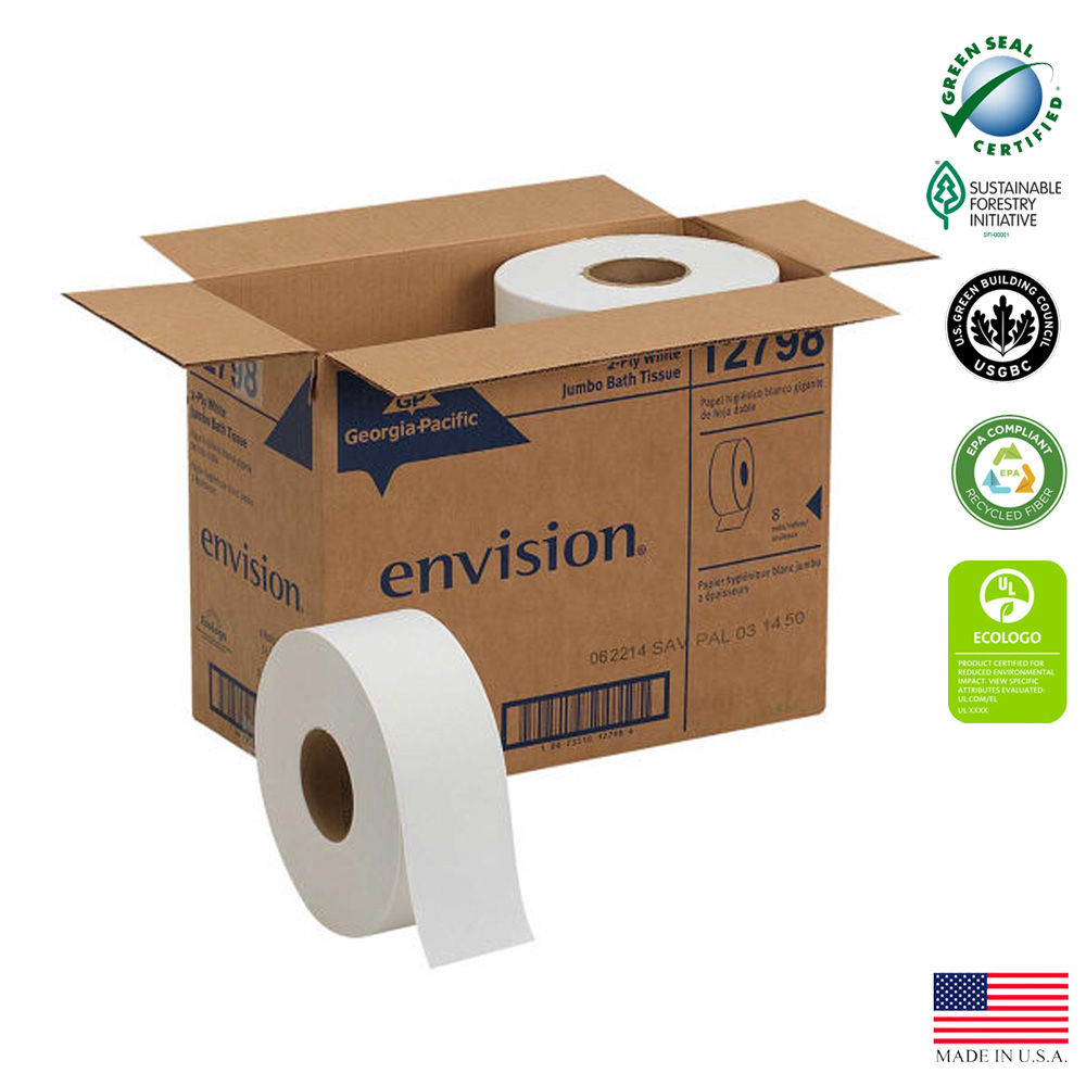 "Georgia Pacific - Envision White 9""x1000' 2 ply Jumbo Junior EPA Compliant Bathroom Tissue 1279"
