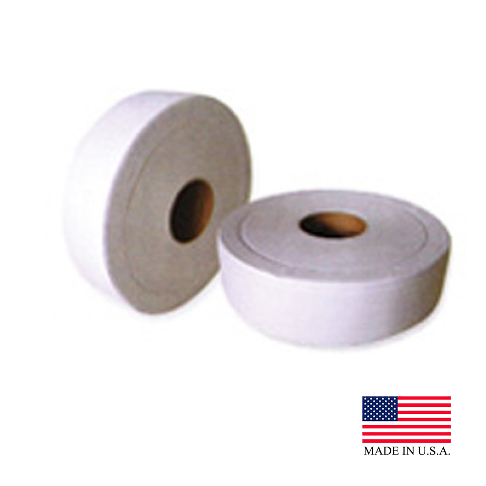 "Nittany Paper Mills Inc. - White 9""x500' 2 ply Junior Roll Towel Embossed Bathroom Tissue NP-73"