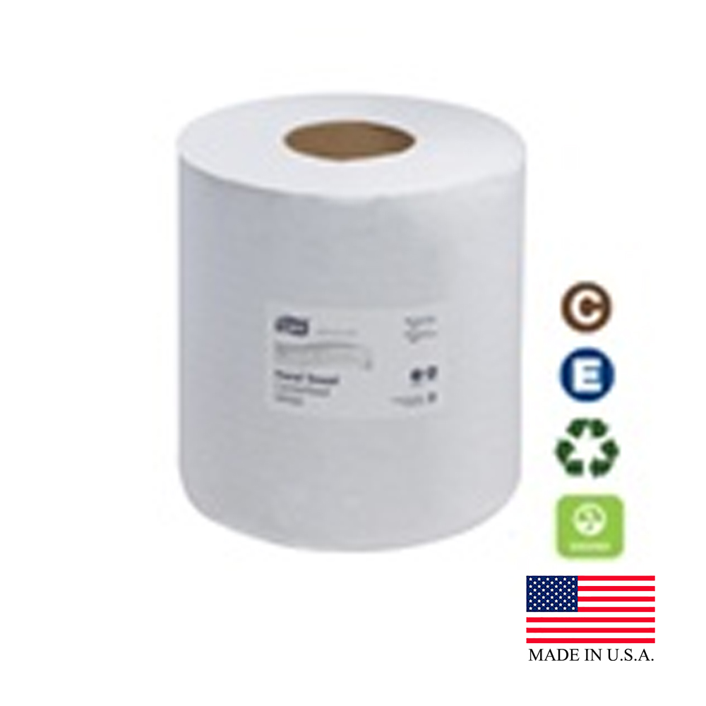 SCA Tissue White 1ply Tork Advanced Center Feed Hand Towel 120133
