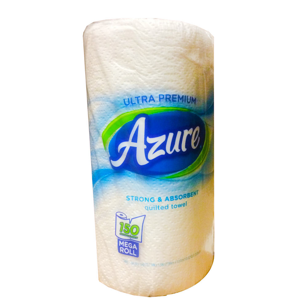 US Alliance Paper Azure 2ply 150 sheet Kitchen    Roll Towel 75150