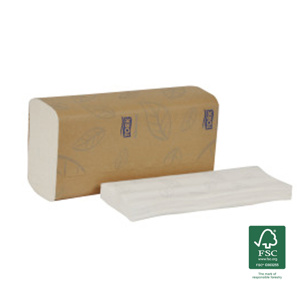 SCA Tissue White Tork Advance Multifold Towel 420558