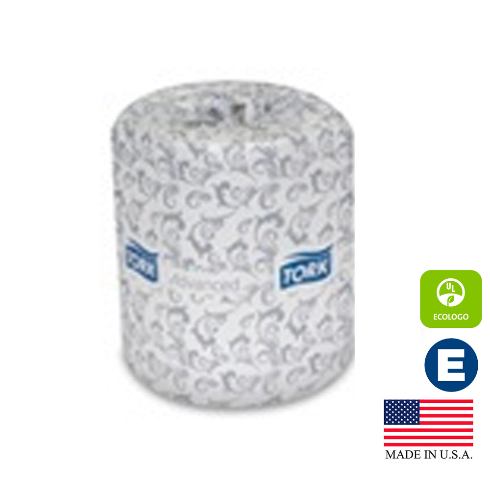 "Essity Professional White 4""x3.75"" 2ply Tork      Advanced Roll Bathroom Tissue TM6120S"