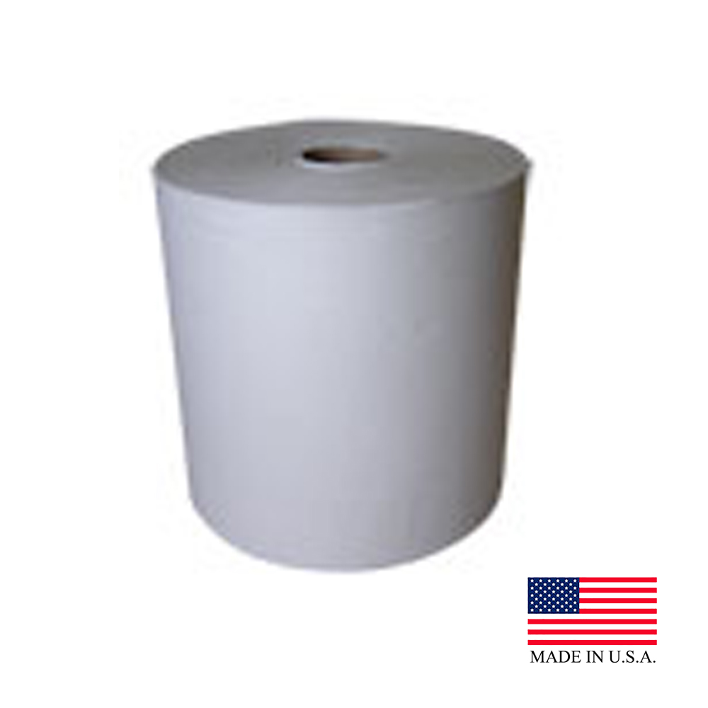 "Nittany Paper White 12""x800' 1.5"" Core Embossed Roll Towel NP-12800EW"