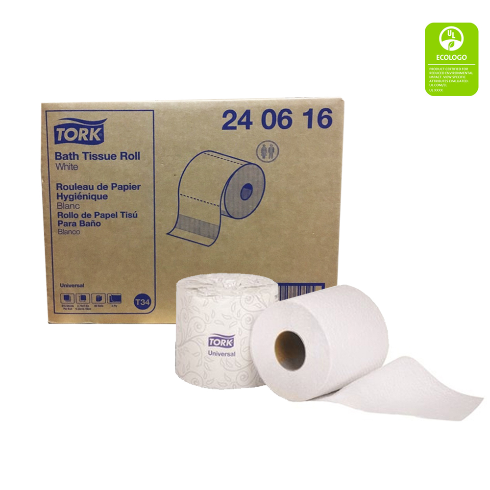 Essity Professional White 2ply 616 Sheet Tork Universal Bathroom Tissue 240616