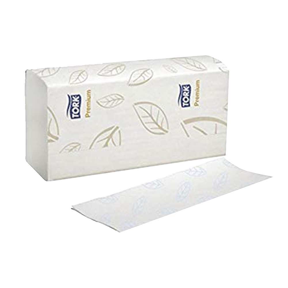 "essity - Tork Premium White 7.8""x9""x7.7"" 2 ply 4 Panel Xpress Multi-Fold Towel MB574"