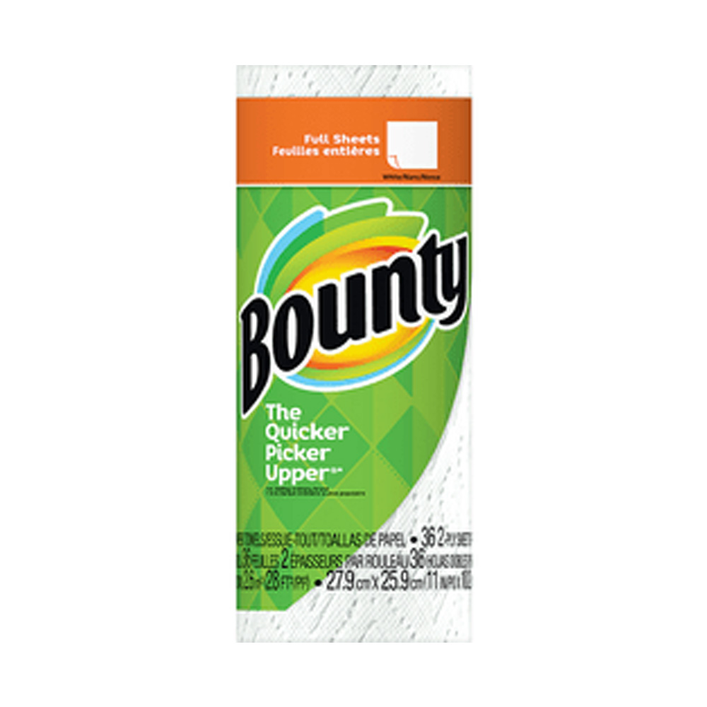 "Procter & Gamble - Bounty White 11""x10.2"" 1 ply 54 Sheets Paper Kitchen Roll Towel 47796"