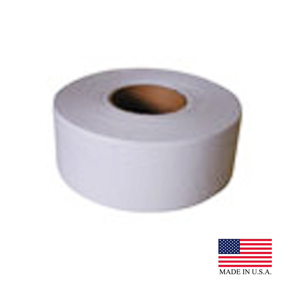 "Nittany Paper Mills Inc. - White 9""x1000' 2 ply Jumbo Roll Bathroom Tissue NP-5218"