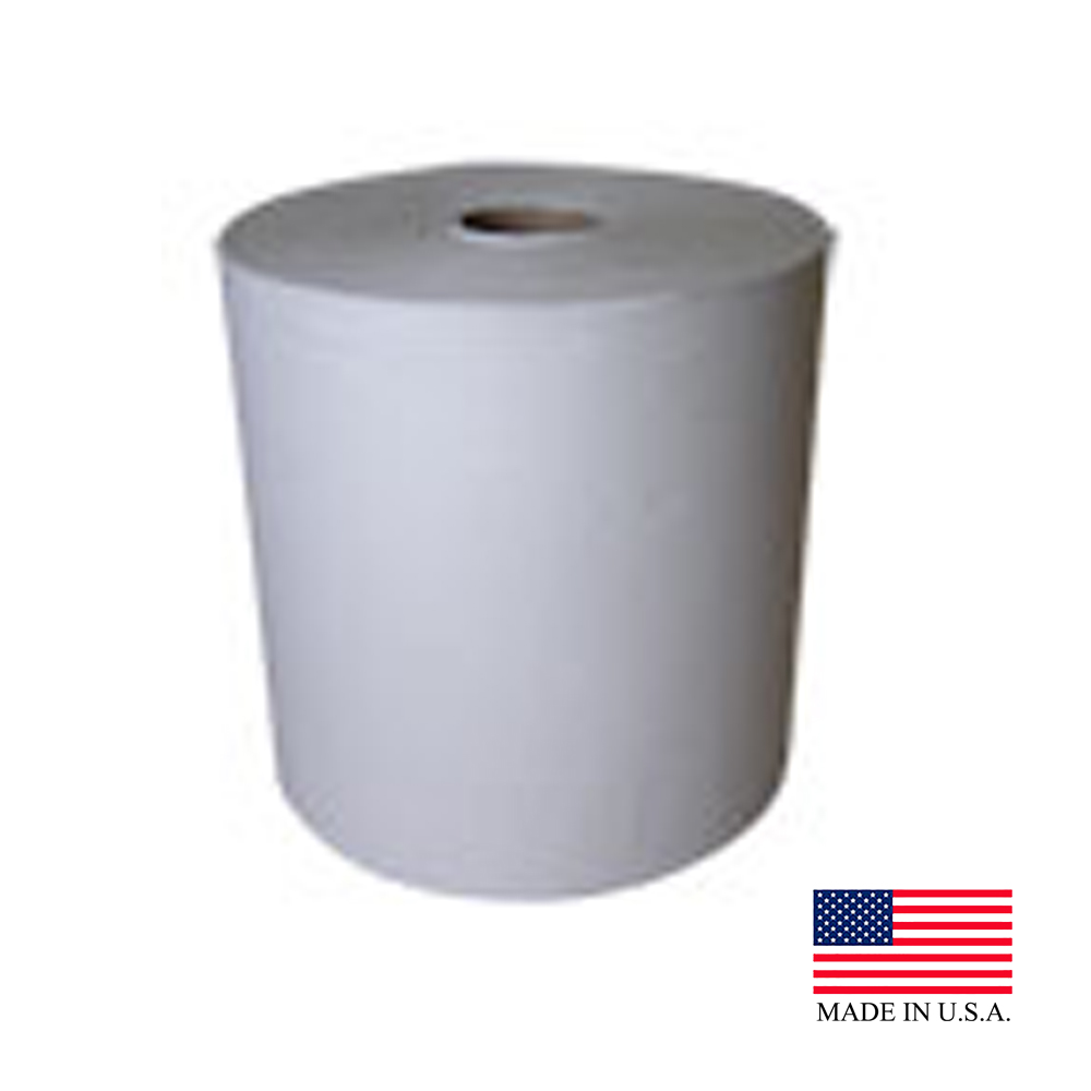 "Nittany Paper White 10""x800' Embossed Roll Towel NP680010E"