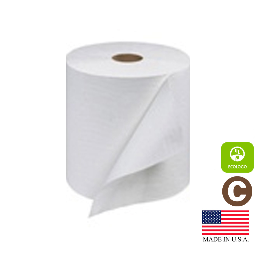 "Essity Professional White 7.87"" x 800' Tork Roll  Hand Towel RB8002"