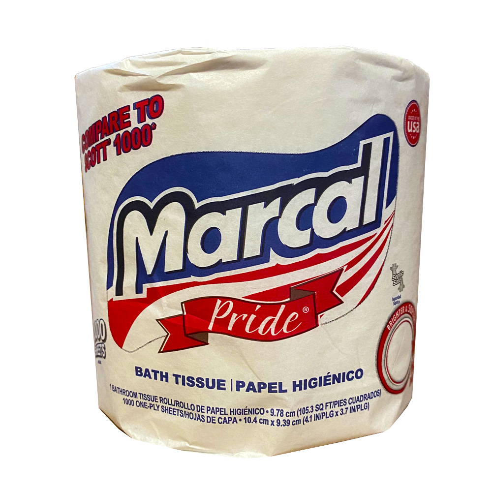 "Nittany Paper Mills Inc. - Marcal Pride 4.1""x3.7"" 1 ply 1000 Count Bathroom Tissue 03407-01"