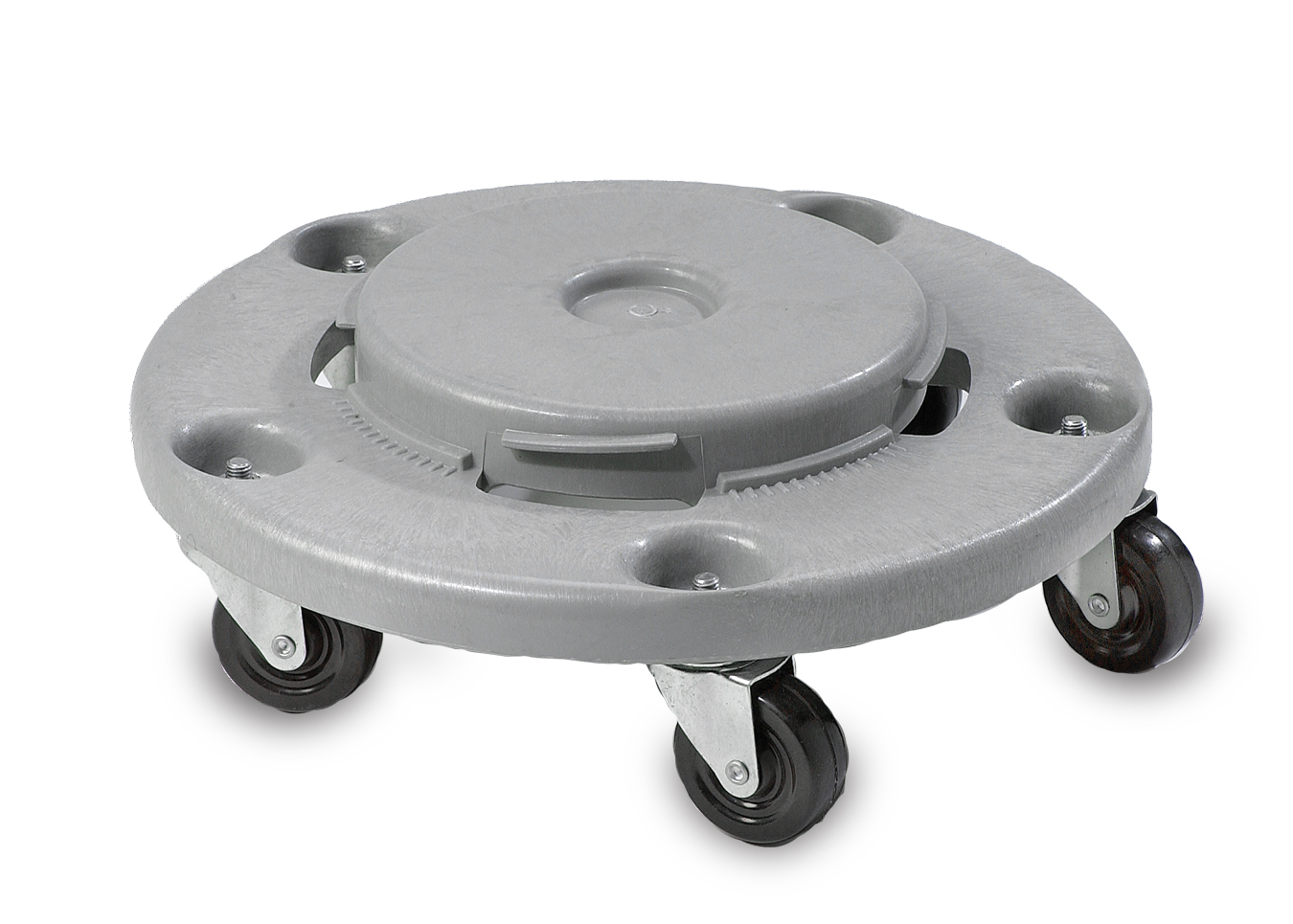 Janico Inc. - Grey 32/44/55 Gallon Garbage Can Dolly With Casters 1040