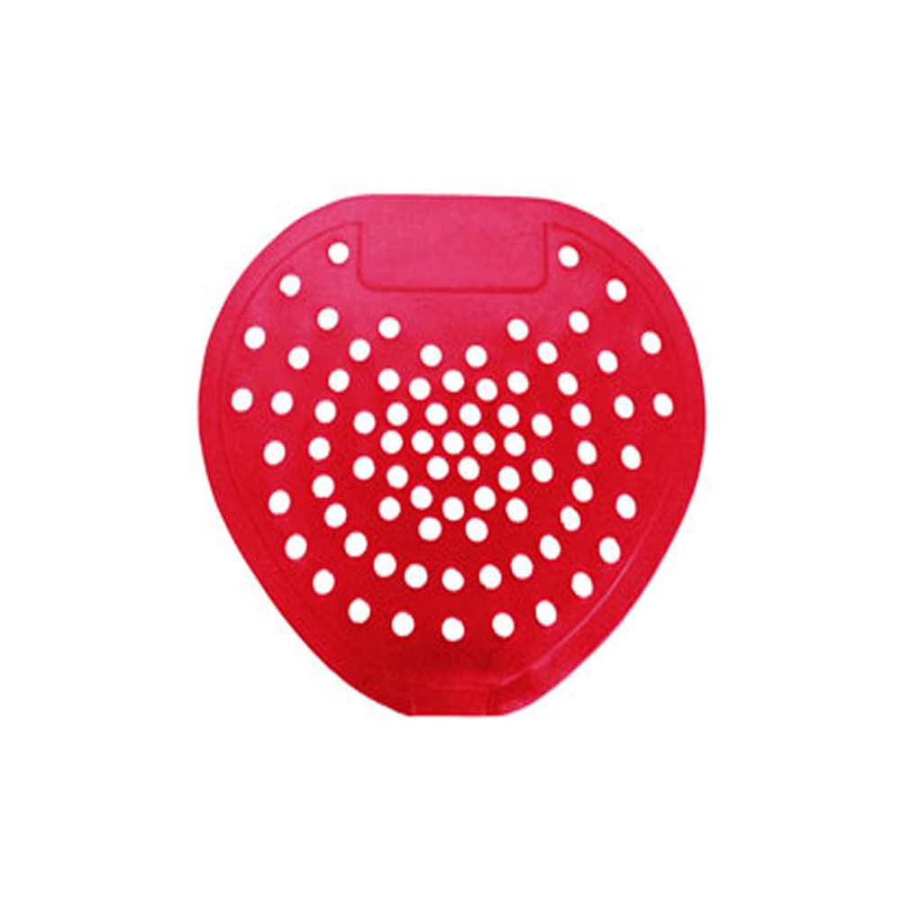 Hospeco Cherry Red Vinyl Urinal Screen No Block 03901