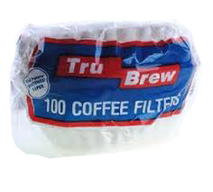 Andex Corp. - Tru Brew White 100 Count Coffee Filters TRUBREW#51