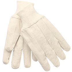 White Large 8oz Cotton Canvas Knit Glove 8100A