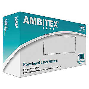 Tradex Intl. -Ambitex Large Powdered Latex        Disposable Gloves LLG510101