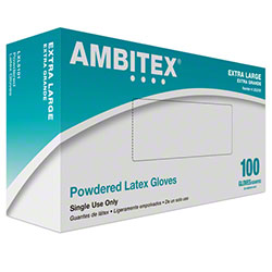 Tradex Intl. -Ambitex Extra Large Powdered        Latex Food Service Gloves LXL5101