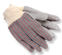 Ball Trading Grey With Red Stripe Clute Pattern Knit Wrist Leather Palm Glove 1040/101