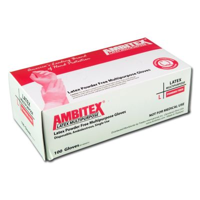 Tradex Intl. - Ambitex Large Powder Free          Latex Food Service Gloves LLG52011