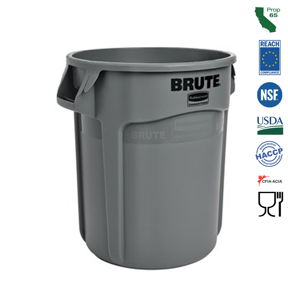 Rubbermaid Commercial - Brute Grey 20 Gallon Waste Bin FG26200GRAY