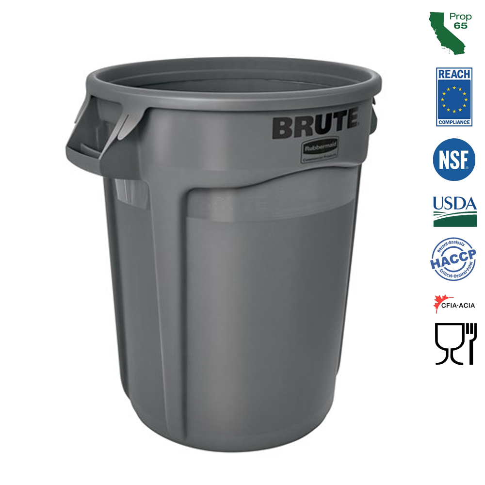 Rubbermaid Commercial - Brute Grey 32 Gallon Waste Container FG263200GRAY