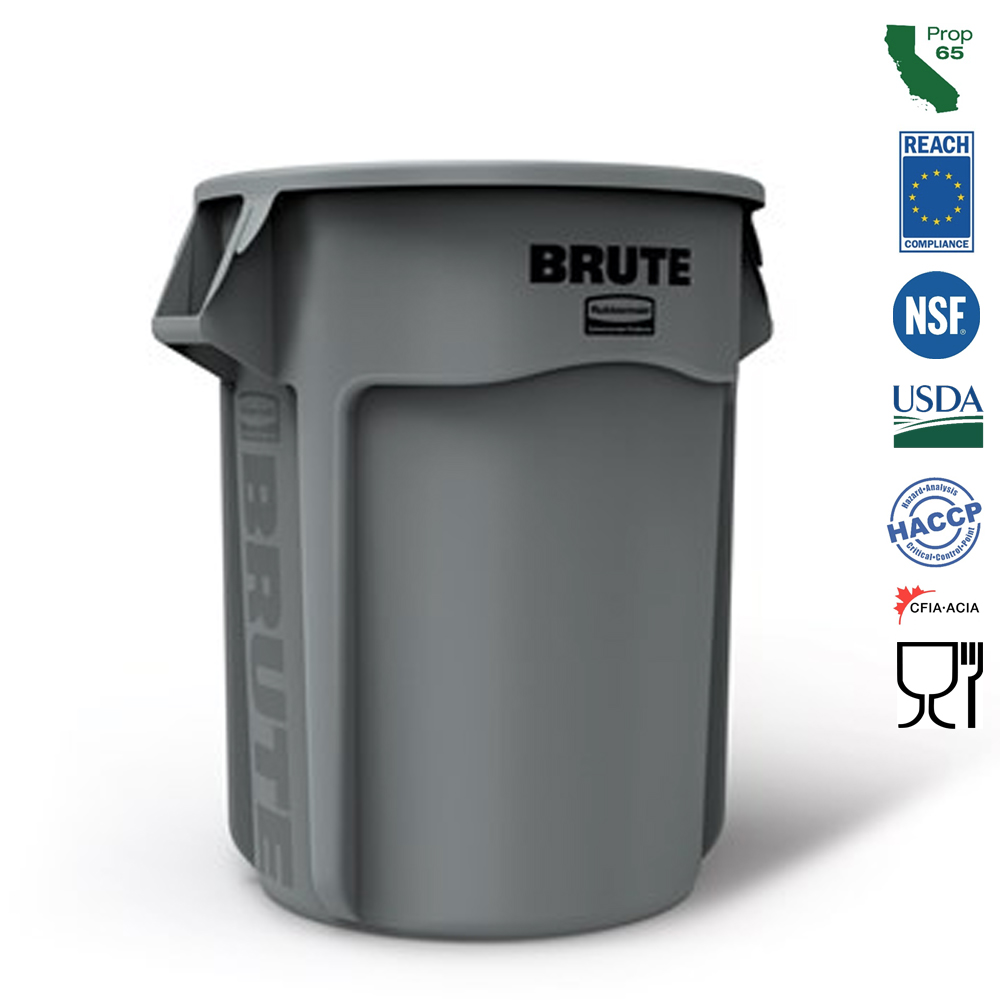 Rubbermaid Commercial - Brute Grey 55 Gallon Waste Bin FG265500GRAY