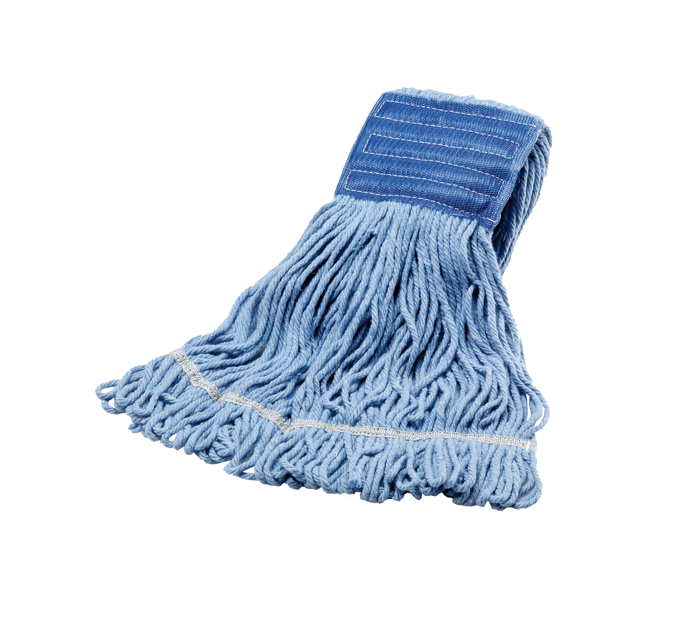 Janico Inc. - Blue Medium Blended Cotton Wide Band Looped End Mop 3041