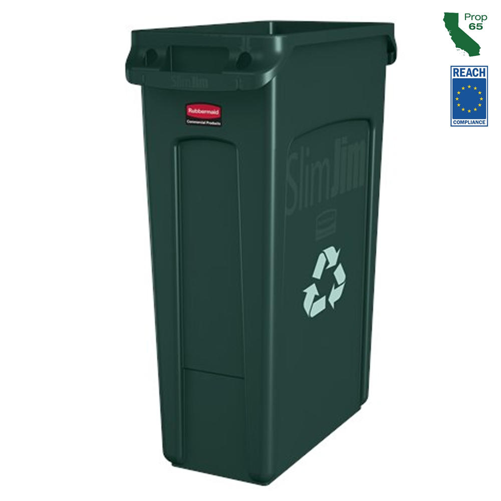 Rubbermaid Commercial - Green 23 Gallon Recycle Container FG354007GRN