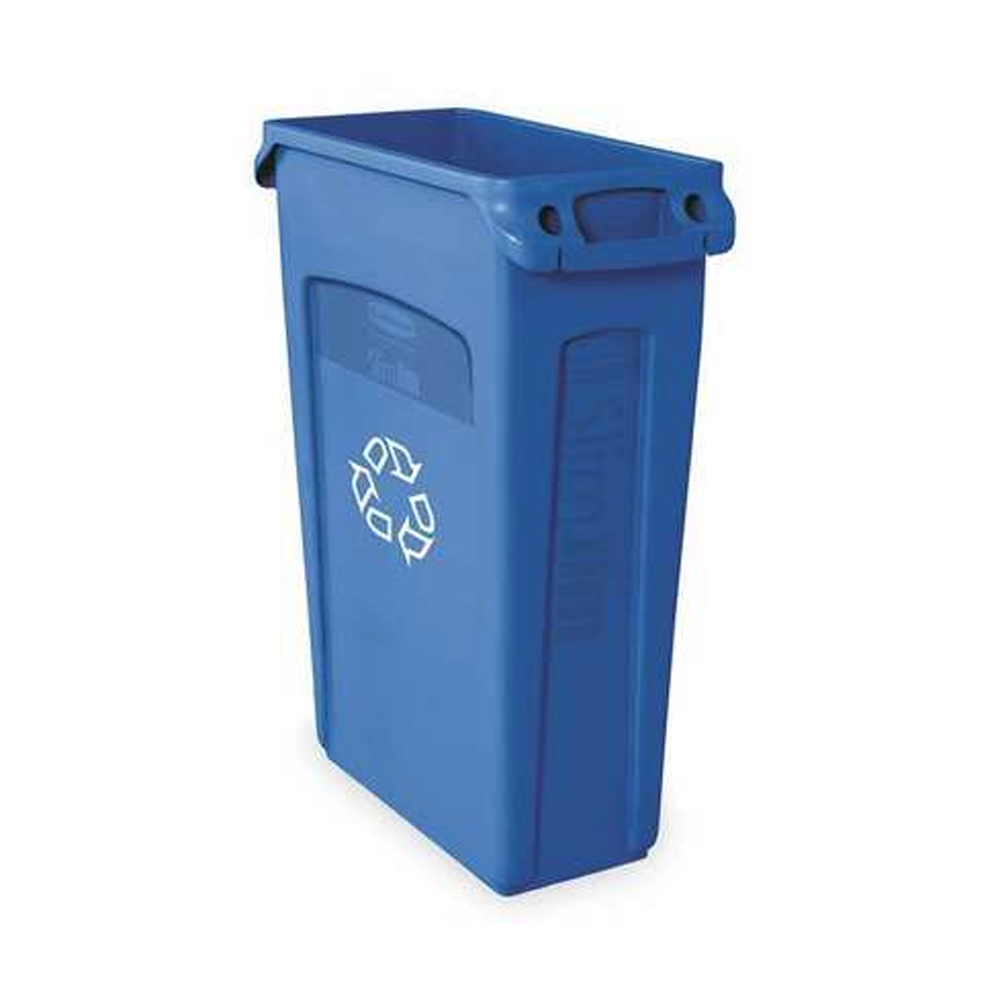 Rubbermaid Blue 23 Gallon Slim Jim Container      FG354007BLUE