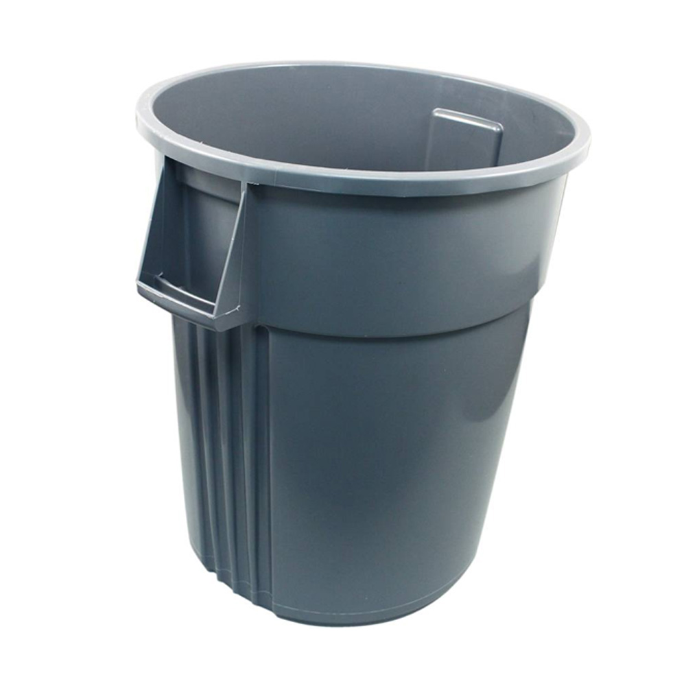 Impact Products Grey 55 gallon Round Huskee Waste Container 5500GY